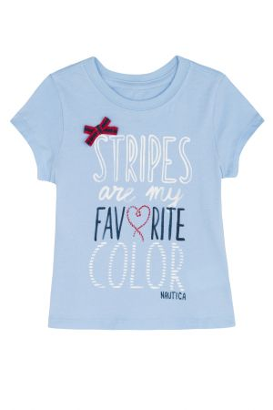 טי שירט STRIPES ARE MY FAV COLOR לילדות (2T-4T)